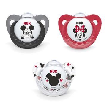 color rojo , 2/unidades NUK 10176212/Disney Mickey Mouse Trend Line Chupete, silicona, 6//–/18/meses, sin BPA