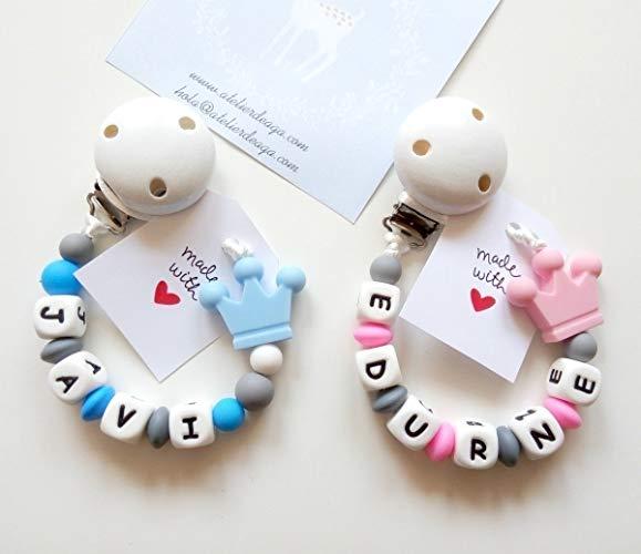 Maniquí Personalizado Clip//Mickey /& Minnie Maniquí Clip//cadenas de madera y silicona