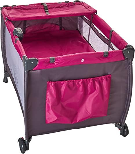 adecuada para viajar color Navy Blue Safety 1st Soft Dreams Cuna de viaje plegable y port/átil plegado compacto con bolsa de transporte 3 a/ños para beb/és y ni/ños 0 meses
